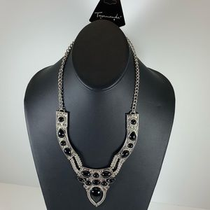 Jewelry - 5/$25 - Silver Statement Necklace with Black Beads